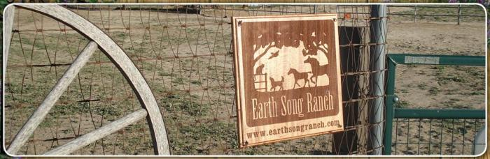 Earth Song Ranch Gate Sign