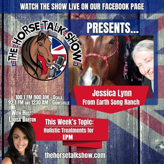 Listen now to Jessica Lynn of Earth Song Ranch on Fox's Horse Talk Show with Louisa Barton discuss EPM in Horses - Holistic Options to Support Treatment & Build Immune Systemn