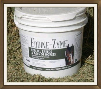 Equine-zyme natural horse probiotic supplement from EarthSong Ranch